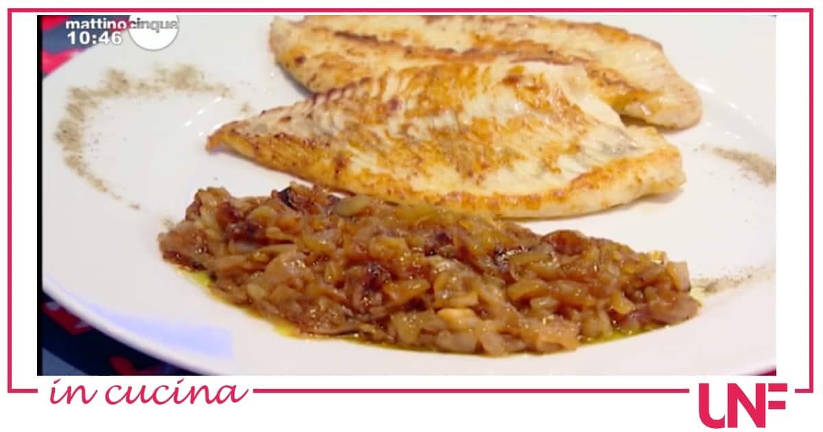 Rombo con cipolle caramellate, la ricetta di Samya