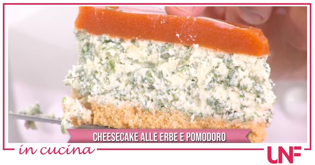 Ricette Daniele Persegani: cheesecake salata con mozzarella e pomodoro