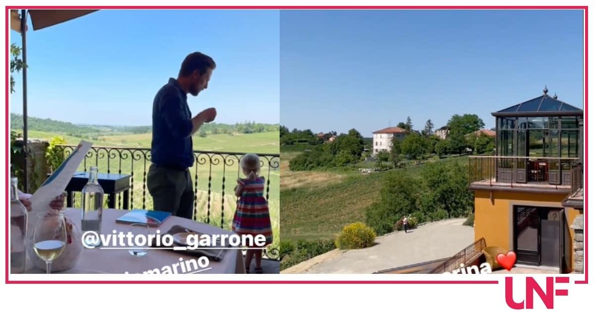Antonella Clerici e Fulvio Marino a pranzo insieme con le famiglie, hanno scelto Villa Sparina
