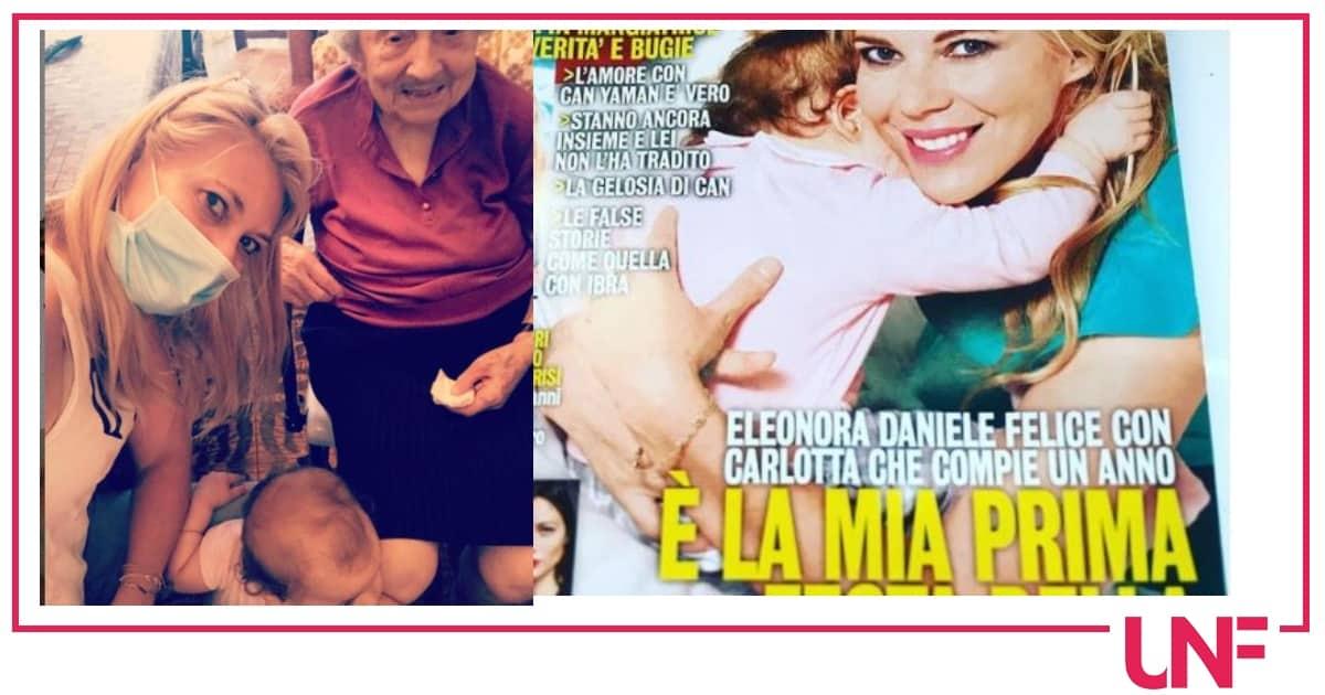 Eleonora Daniele felicissima per l'incontro tra Zia Elsa e la piccola Carlotta