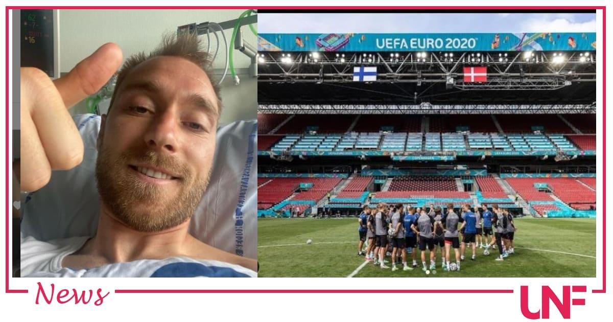 Primo selfie per Eriksen dall'ospedale: sta bene e ringrazia tutti
