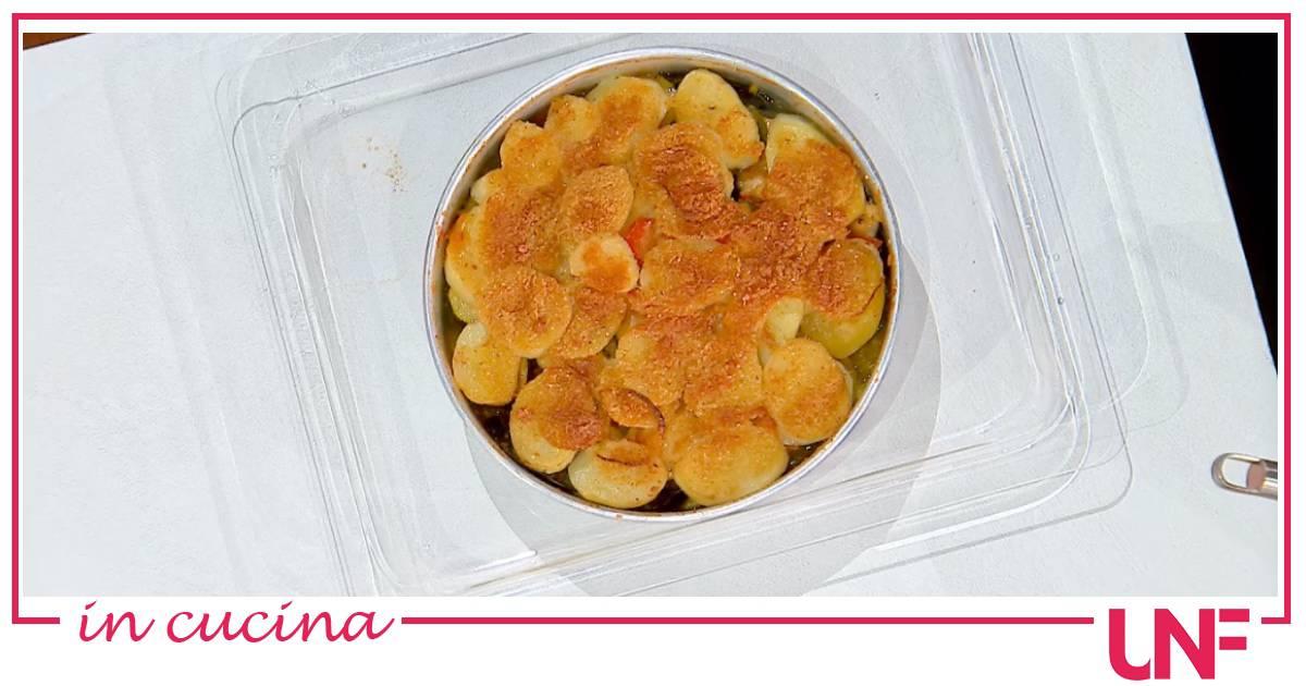 Tiella patate, cucuzze e cozze, la ricetta di Antonella Ricci