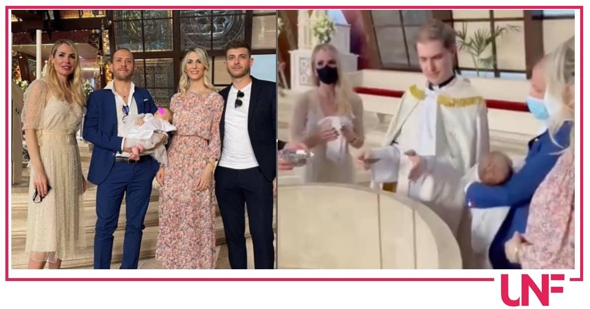 Ilary Blasi madrina della nipotina, il battesimo di Jolie è stato molto emozionante