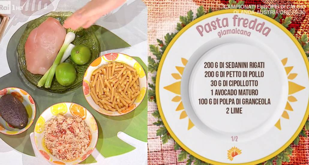 Pasta fredda giamaicana, la ricetta di Francesca Marsetti per l'estate