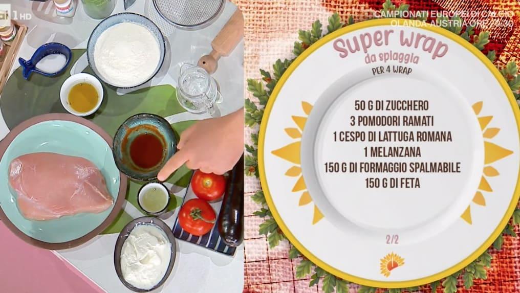 Super wrap da spiaggia, la ricetta estiva di Simone Buzzi