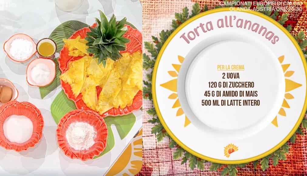 Torta all'ananas di Natalia Cattelani, la ricetta del dolce dell'estate