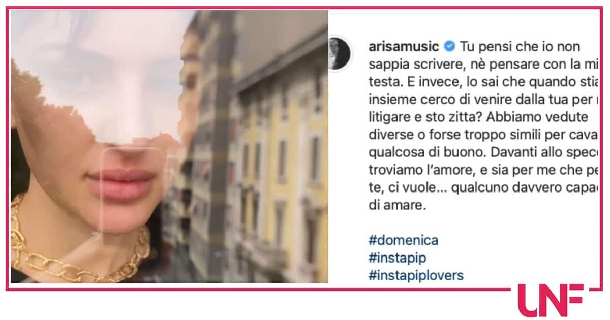 Arisa discute con l'ex fidanzato ma interviene Naike Rivelli
