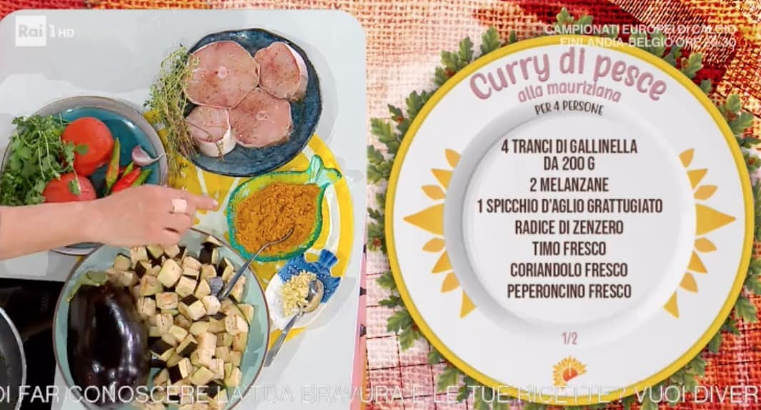 Curry di pesce alla mauriziana, ricetta di Antonella Ricci