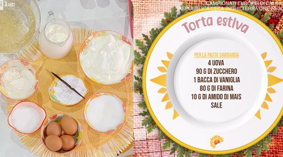 Torta estiva, la ricetta di Zia Cri della torta con la frutta