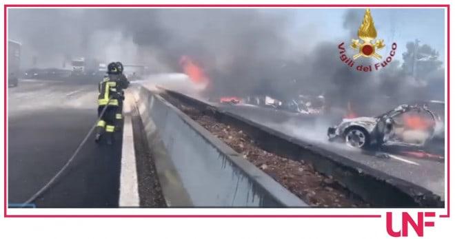 Incidente A1 tra tir e auto: morti 2 camionisti