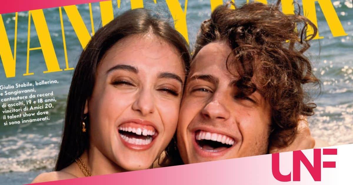 Giulia Stabile e Sangiovanni raggianti sulla cover di Vanity Fair: è amore
