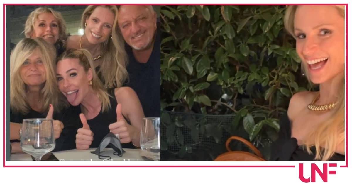 Ilary Blasi e Michelle Hunziker a cena insieme, sono colleghe ma soprattutto amiche