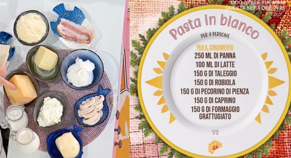 Pasta in bianco, la ricetta di Simone Buzzi