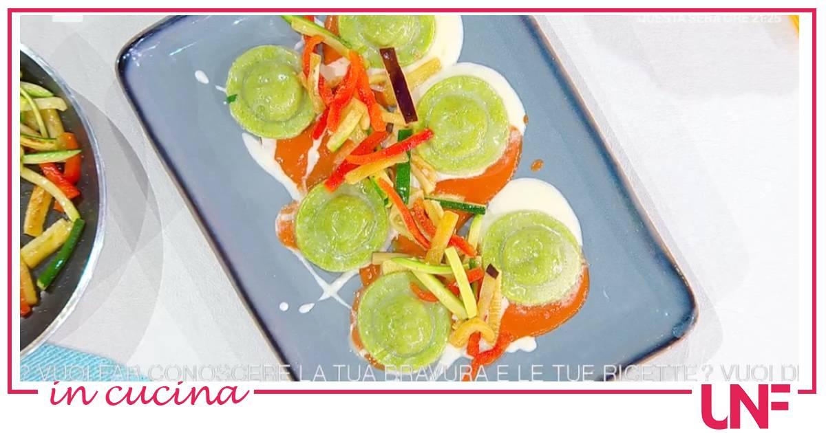 Ravioli di melanzane e mozzarella, ricetta di Gian Piero Fava