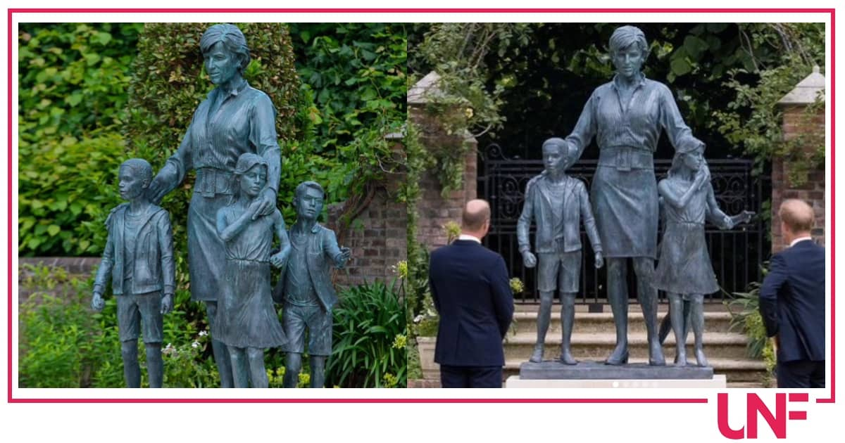 La statua di Lady Diana nasconde tanti simboli, soprattutto il vestito