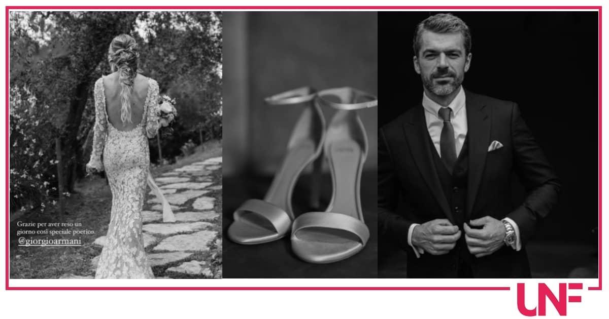Cristina Marino a un mese dal matrimonio con Luca Argentero mostra i dettagli (Foto)
