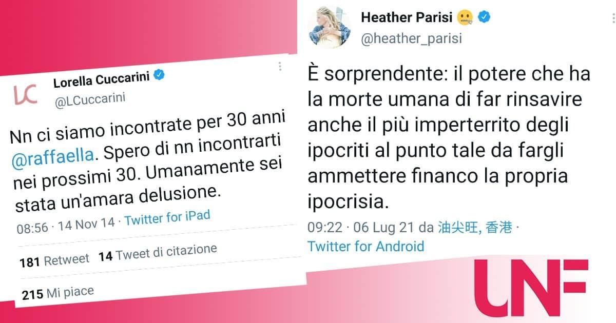 Heather Parisi al vetriolo dopo la lettera della Cuccarini per la Carrà: parla di ipocrisia