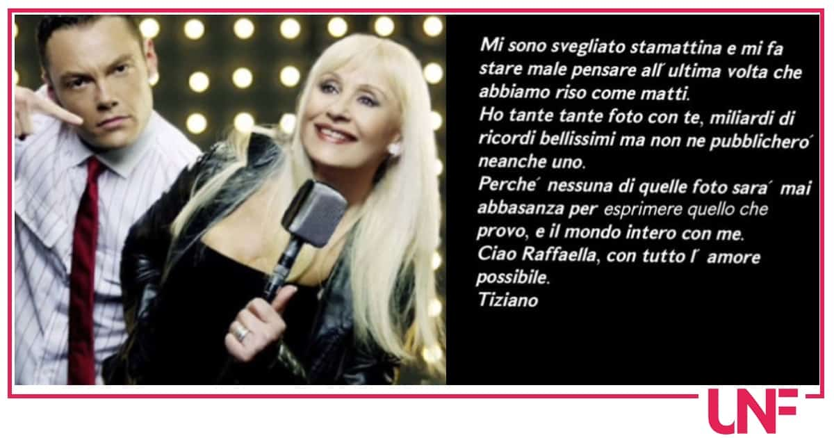 Tiziano Ferro non pubblica nemmeno una foto con Raffaella Carrà e spiega il motivo