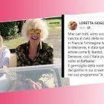 Loretta Goggi sconvolta per la morte di Raffaella Carrà affida a un frate il suo saluto