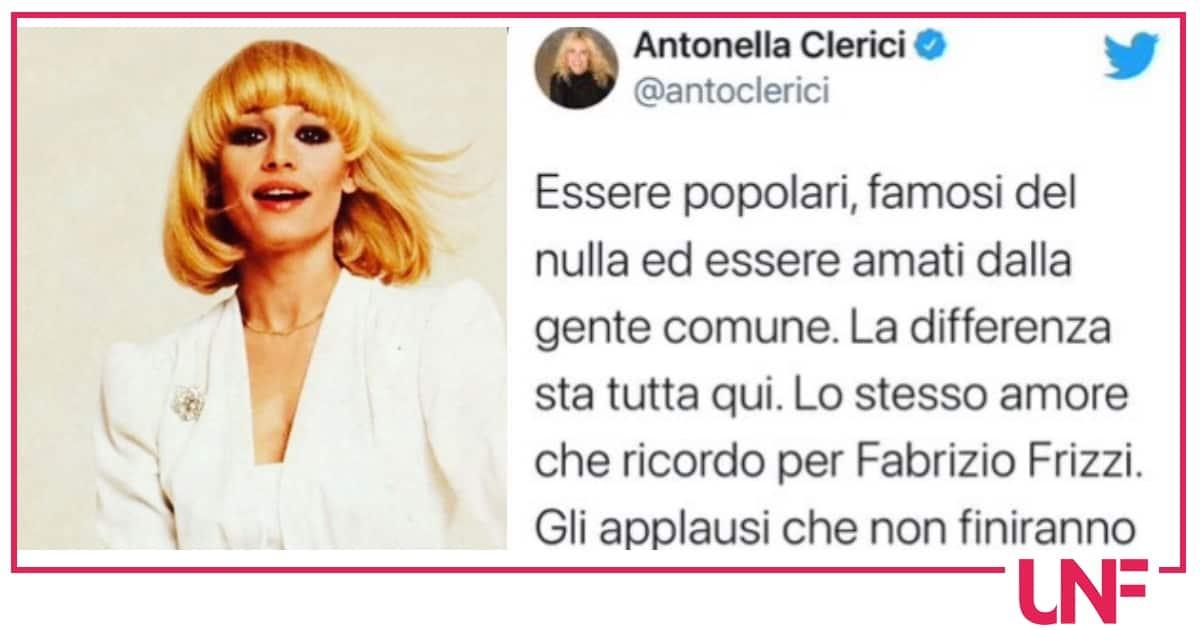 Antonella Clerici paragona Raffaella Carrà a Fabrizio Frizzi con la stoccata per i famosi del nulla