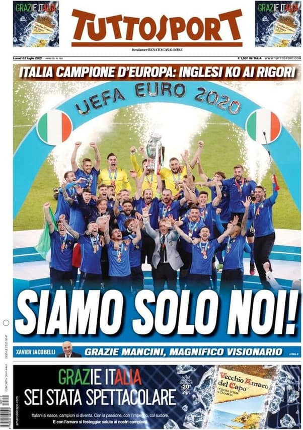 L'Italia è campione d'Europa: la coppa torna a Roma