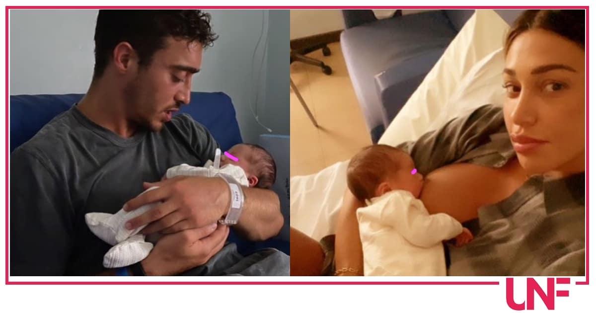 Belen allatta Luna e sogna quando la figlia è tra le braccia di Antonino