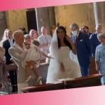 Per Bernardeschi e Veronica Ciardi anche il battesimo di Lena: presentano per la prima volta la seconda figlia