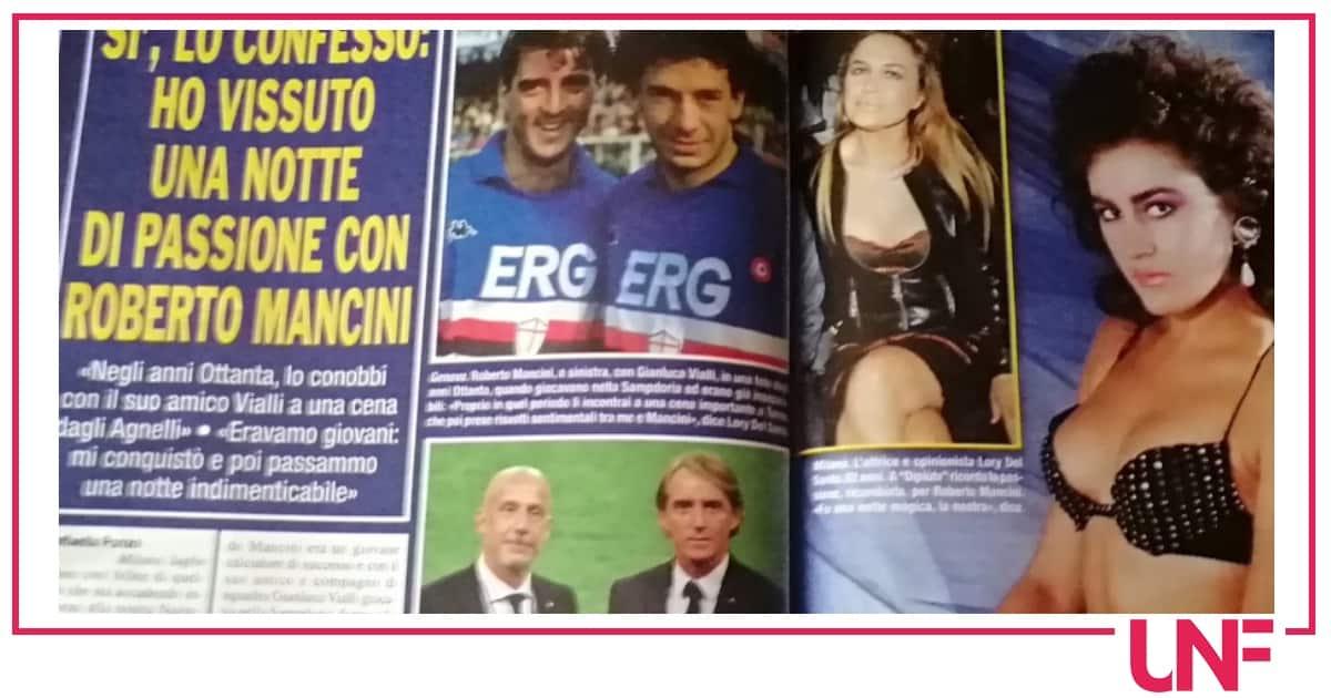 Lory Del Santo ricorda la notte con Roberto Mancini