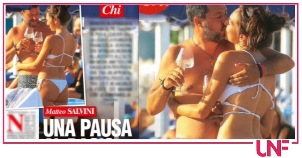 Matteo Salvini e Francesca Verdini in spiaggia, lei è in gran forma