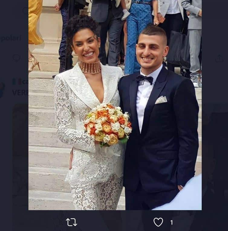Marco Verratti sposa la bellissima Jessica e le prime foto fanno il giro del mondo