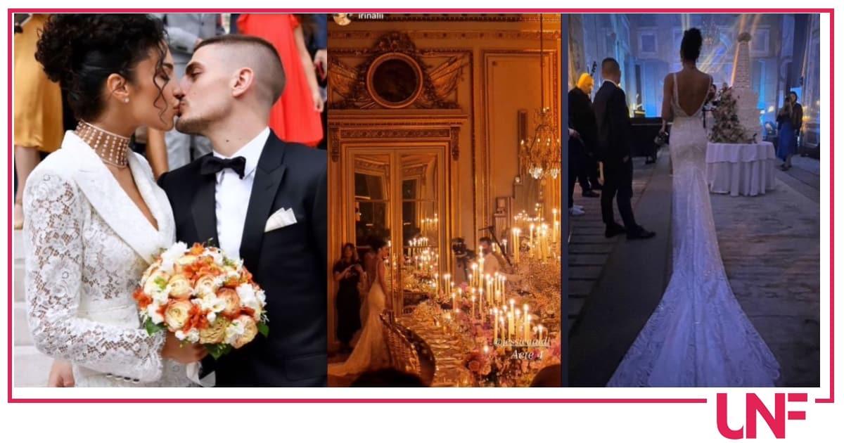 Il matrimonio di Verratti: al party da sogno cambio d'abito per Jessica Aidi