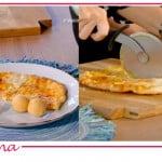 La pizza di Maria Grazia Cucinotta per le ricette Fatto da mamma con Flora Canto