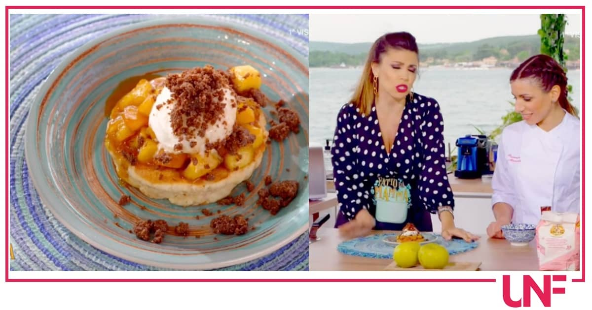 Ricette Fatto da mamma: pancake con mele e gelato