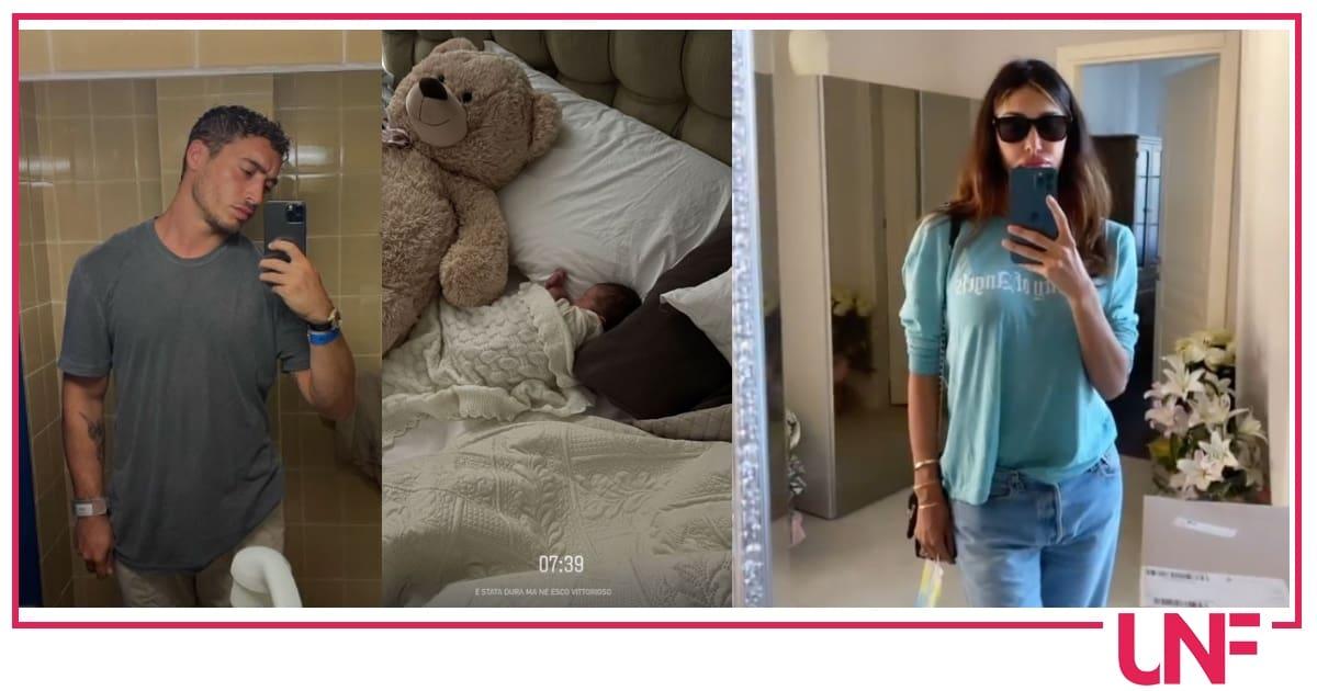Che nottata per Antonino mentre Belen mostra il primo outfit dopo il parto