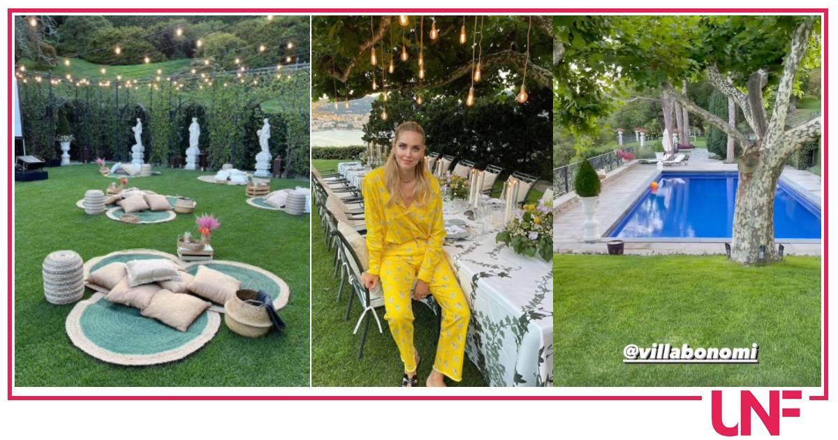 Il fine settimana di Chiara Ferragni a Villa Bonomi è da sogno con tutta la famiglia