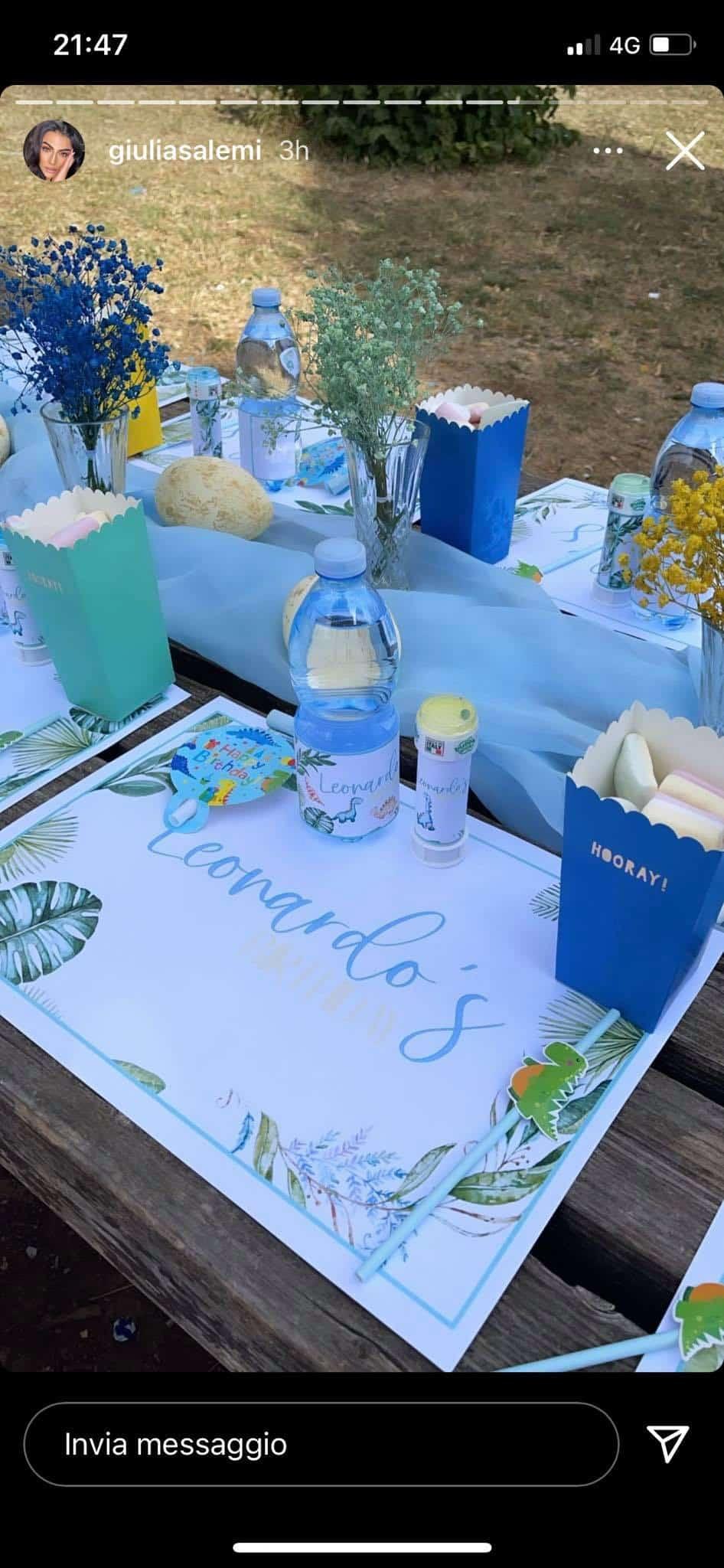 Giulia Salemi e le dolci dediche a Pierpaolo e Ariadna per il compleanno di Leo (FOTO)