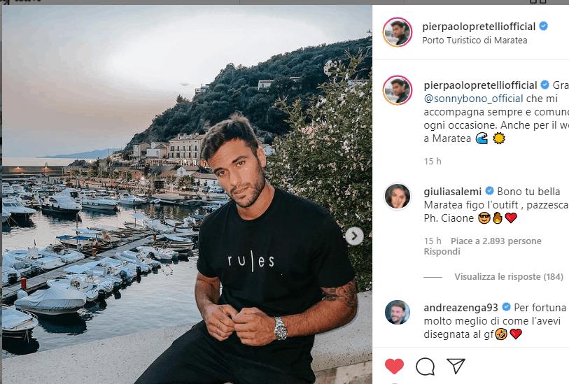 Giulia Salemi e Pierpaolo Pretelli innamoratissimi a Maratea: gli scatti dell'estate (Foto)