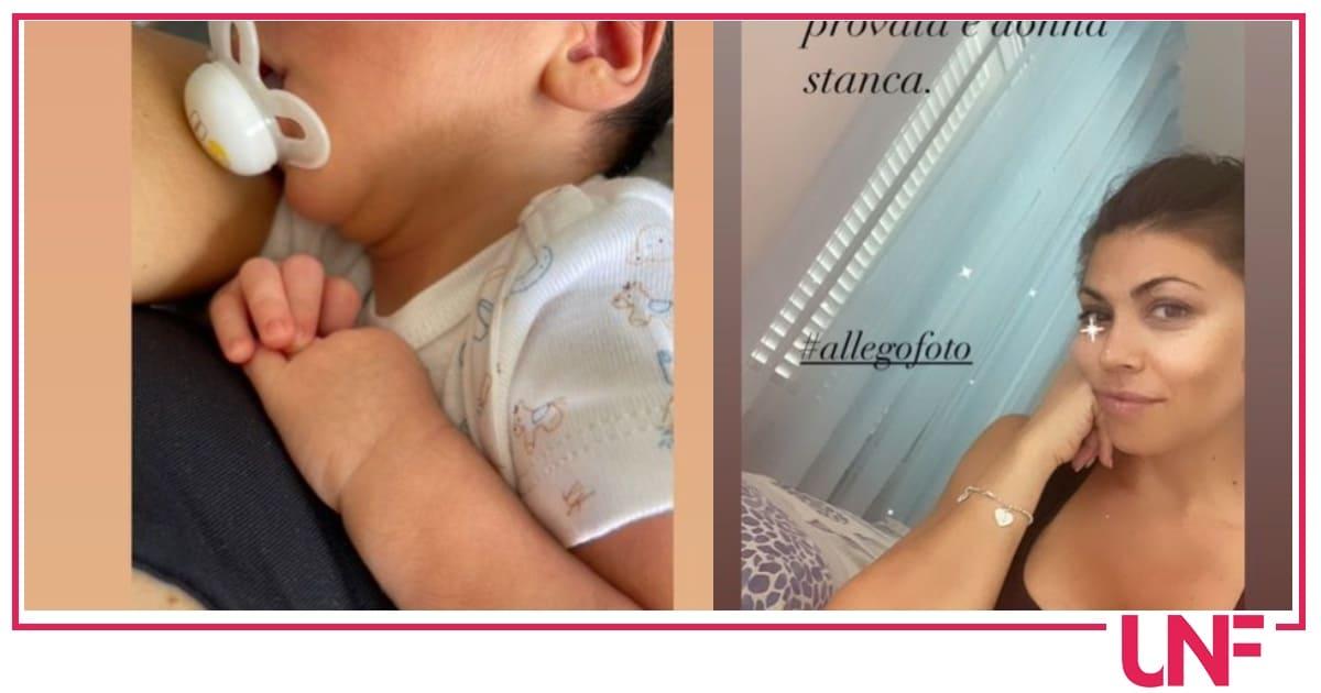 Flora Canto pubblica foto vere, quelle di una mamma provata e stanca