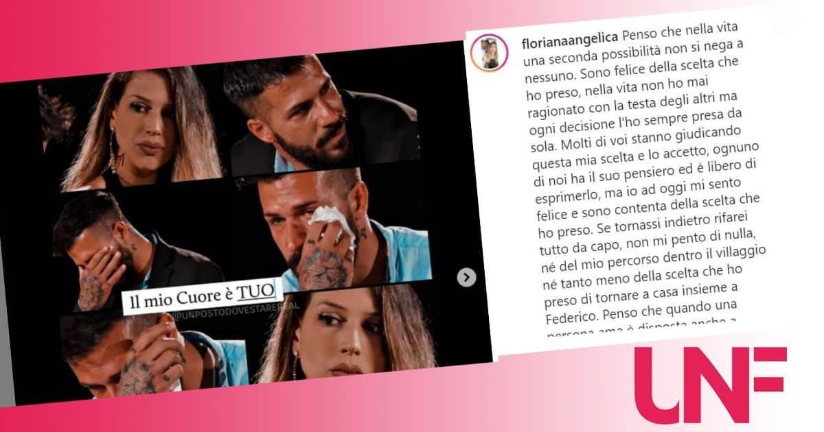 Floriana Angelica perdona Federico ma il web non perdona: la sua risposta alle critiche