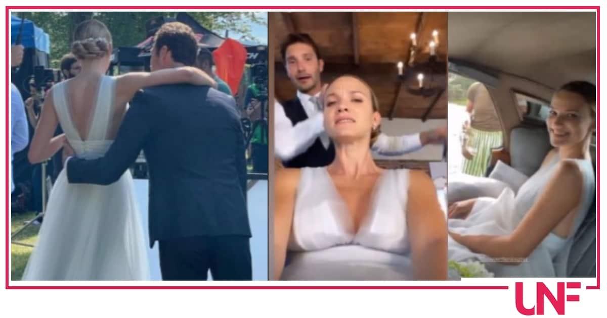 Stefano De Martino e Fiammetta Cicogna si sono sposati, bellissimi sul set