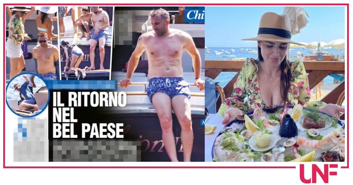 Del Piero torna in vacanza a Capri con tutta la famiglia