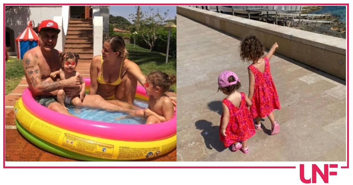 Bobo Vieri e Costanza Caracciolo, anche in vacanza la sveglia è alle sei per le figlie