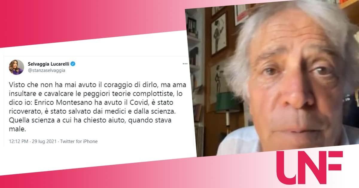 """Selvaggia Lucarelli smaschera Enrico Montesano: """"Ha avuto il covid, curato dalla scienza ma non lo dice"""""""