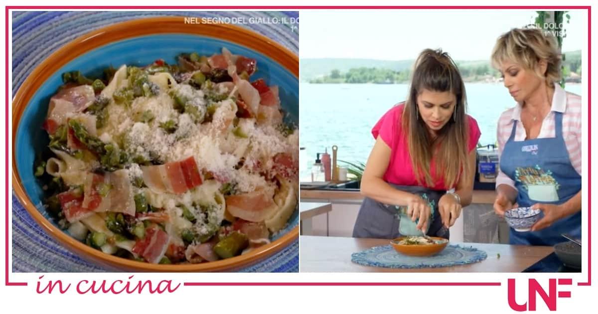 Ricette Fatto da mamma: tagliatelle fatte in casa con asparagi e pancetta di Carmen Russo