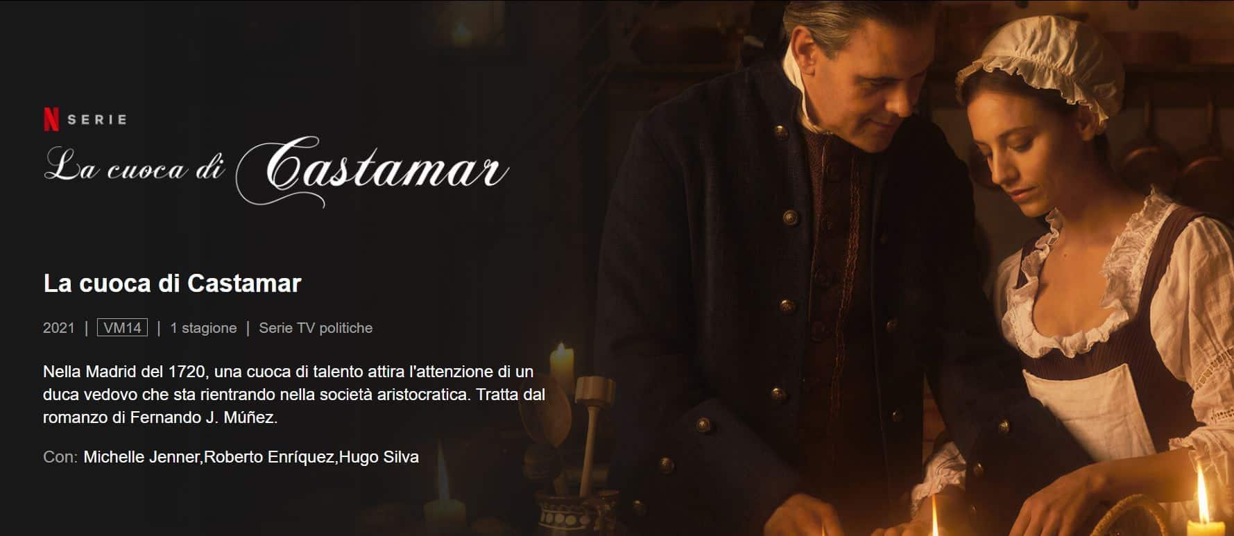 La cuoca di Castamar una bella serie in costume da vedere su Netflix