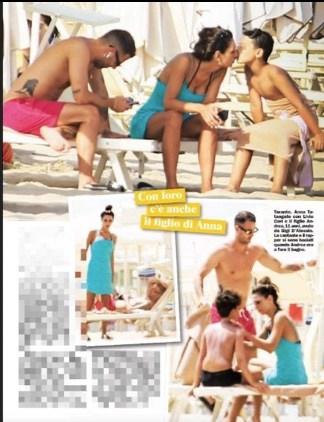 Anna Tatangelo in vacanza in Puglia con Livio Cori ma c'è anche il figlio Andrea (Foto)