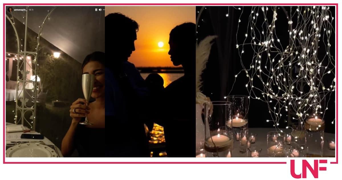 Belen e Antonino festeggiano l'anniversario nel modo più romantico