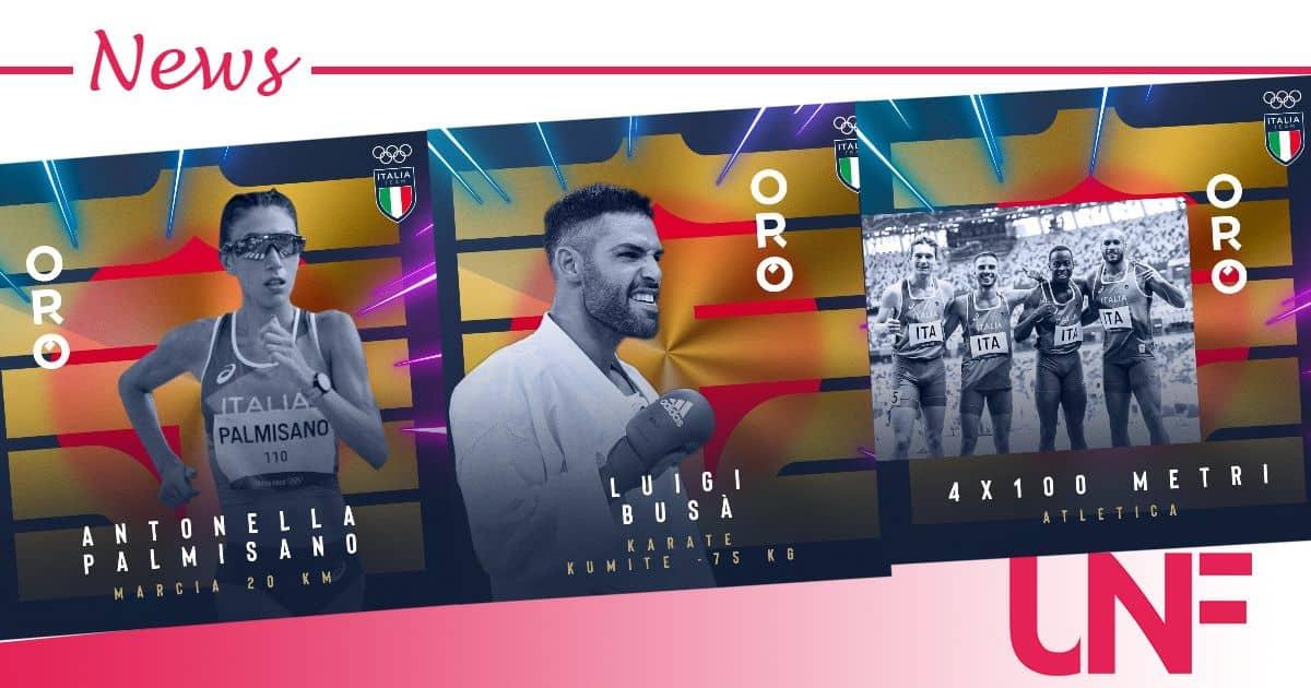 Tre ori per l'Italia oggi: è record di medaglie alle Olimpiadi, numeri pazzeschi