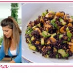 Fatto da mamma, la ricetta del pollo con zucchine e riso venere di Elena Santarelli