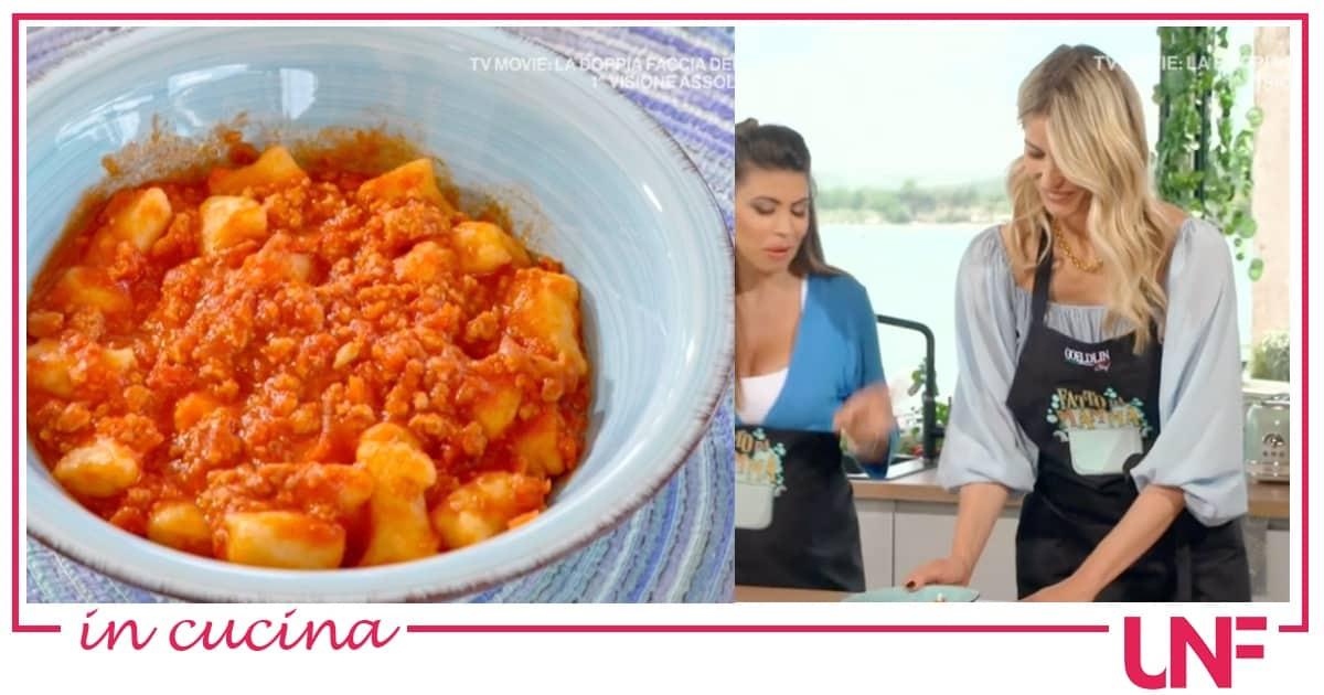 Elena Santarelli, la ricetta degli gnocchi al ragù